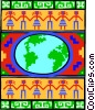 Vector Clip Art graphic  of a business global trade