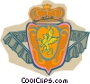 Vector Clipart image  of a crown and shield