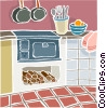 Vector Clip Art image  of a kitchen