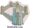 Vector Clip Art picture  of a European fortress