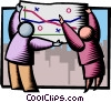 Vector Clip Art image  of a team work