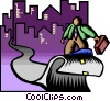 business / surfing the info highway Vector Clipart illustration