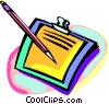 pen and paper Vector Clip Art graphic