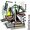 Vector Clip Art image  of a business / weighing the