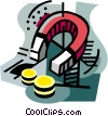 Vector Clipart illustration  of a business / attracting
