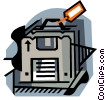 business / archiving Vector Clip Art picture