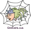 Vector Clip Art graphic  of a business / World Wide Web