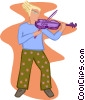 violinist Vector Clipart graphic