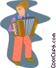 Vector Clipart illustration  of an accordion player