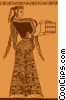Vector Clip Art picture  of an ancient Egypt