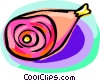 Vector Clip Art graphic  of a leg of pork