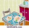 Vector Clipart graphic  of a food and dining