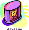 Vector Clip Art graphic  of a timer