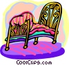 Vector Clipart image  of a bed