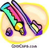 Vector Clipart picture  of a toothpaste