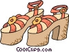 Vector Clipart image  of a pumps