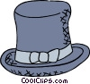 Vector Clip Art image  of a top hat