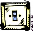 Vector Clip Art graphic  of a light switch