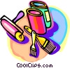 Vector Clipart graphic  of a painting tools