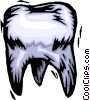 woodcut tooth Vector Clipart illustration