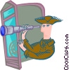 explorer navigating Vector Clipart picture