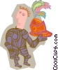 Vector Clip Art image  of a knight with helmet