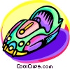 bumper car Vector Clipart illustration