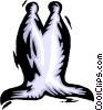 Vector Clip Art graphic  of a chess piece bishop
