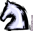 Vector Clipart image  of a chess piece knight
