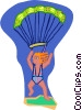 sky diver Vector Clip Art graphic