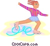 Vector Clip Art graphic  of a Female figure skater