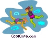 Vector Clipart graphic  of a sky divers