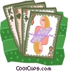 Vector Clipart graphic  of a cards