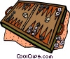 backgammon Vector Clip Art graphic