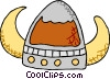 Vector Clipart picture  of a Viking hat