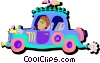 driving car Vector Clipart image