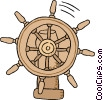 business navigation wheel Vector Clipart graphic