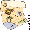 Vector Clipart graphic  of a treasure map