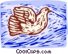 Vector Clipart illustration  of a woodcut bird