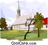 Traditional Church Vector Clip Art graphic
