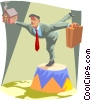 Vector Clipart picture  of a balancing act
