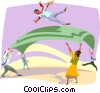 team work Vector Clipart graphic