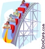 Vector Clip Art image  of a business / roller coaster