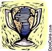 business / woodcut trophy Vector Clip Art graphic
