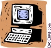 Vector Clipart picture  of a personal computer