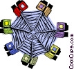 Vector Clip Art graphic  of a business / networking