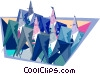 Vector Clip Art picture  of a business corporate pinheads