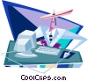 Vector Clipart illustration  of a business / telecommunications