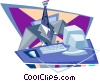 Vector Clip Art picture  of a business / technology