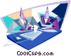 Vector Clipart graphic  of a business / technology